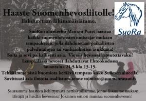 Haaste SuoRa suomenhevosliitto2