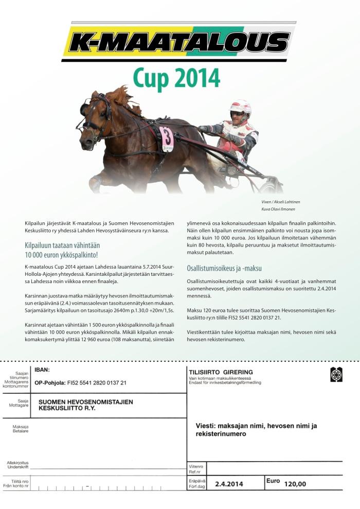 K-Maatalous Cup 2014